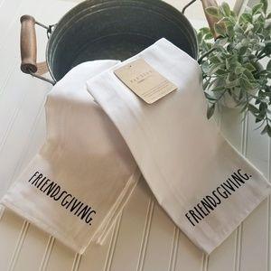 NWT Set of Two Rae Dunn Towels FRIENDSGIVING